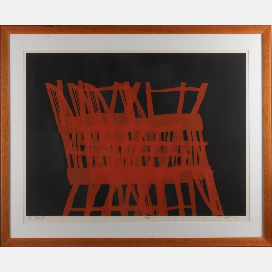 Arnold Mesches (1923-2016) The Chair II, Lithograph, - 2