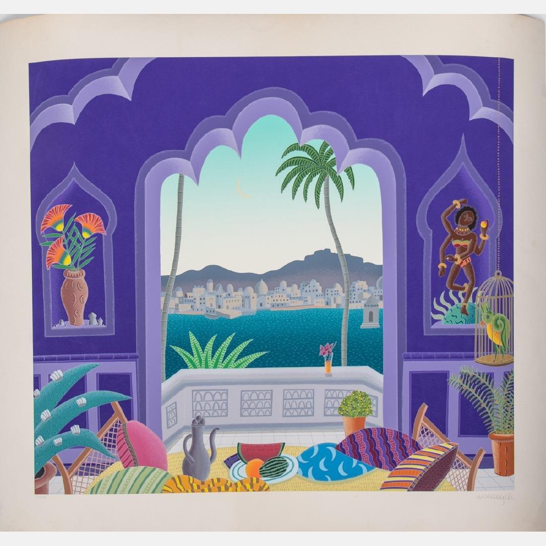 Thomas McKnight (b. 1941) Living Room, Silkscreen,