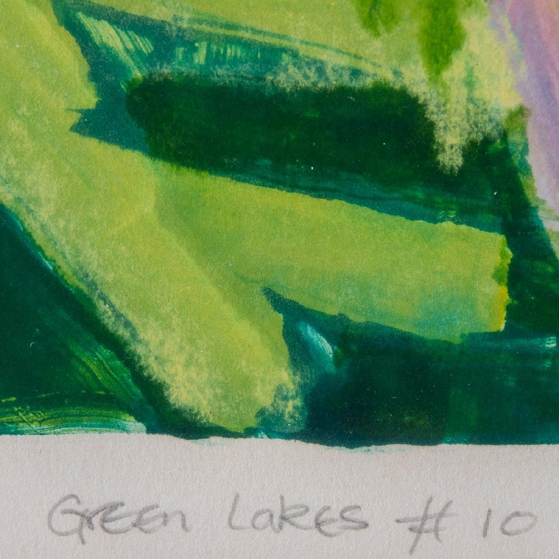 Liz Pannett (b. 1947) 'Green Lakes #1' and 'Green Lakes - 9