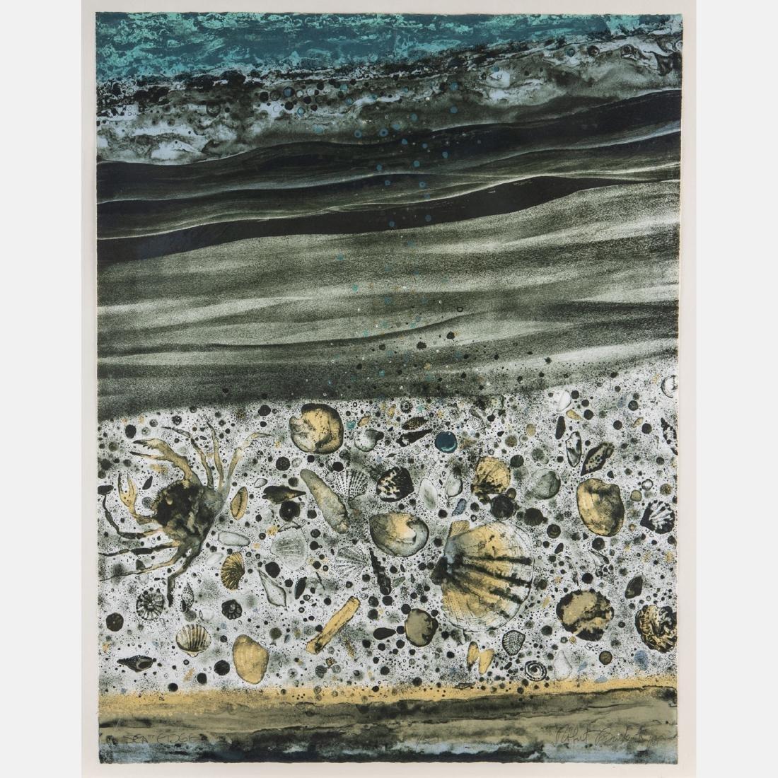 Robert Randall Burkert (b. 1930) 'Sea Edge' and 'Shore - 3