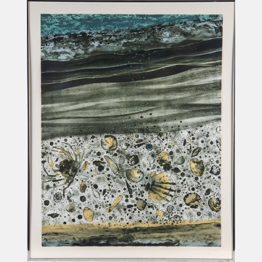 Robert Randall Burkert (b. 1930) 'Sea Edge' and 'Shore - 8