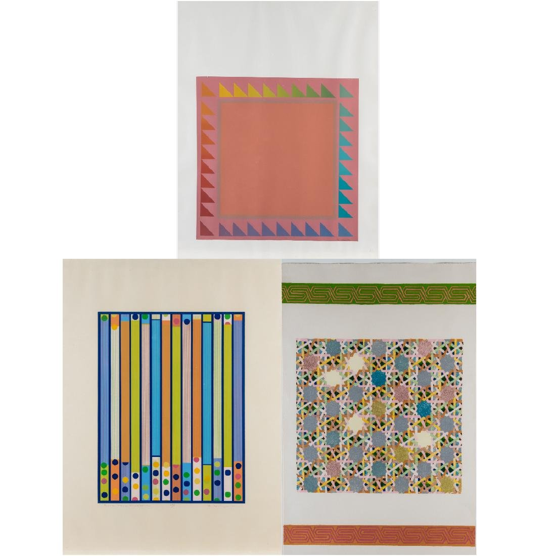 A Group of Three Framed Lithographs and Serigraphs by