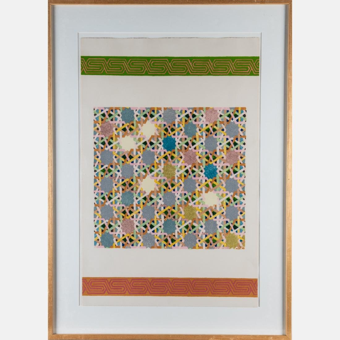 A Group of Three Framed Lithographs and Serigraphs by - 5