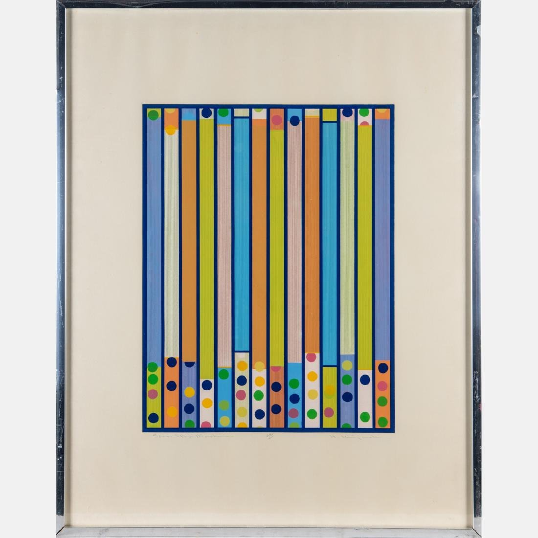 A Group of Three Framed Lithographs and Serigraphs by - 8