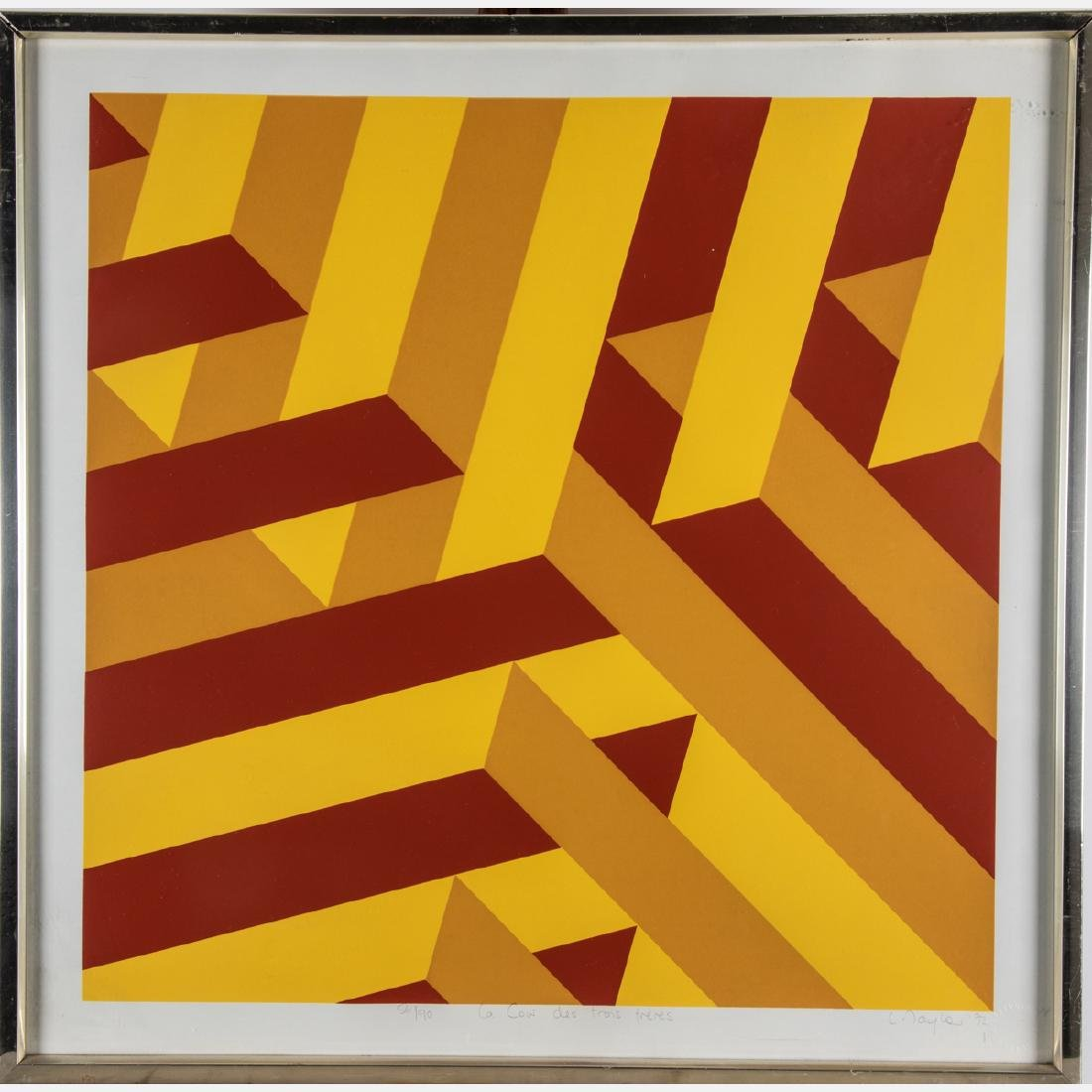 Fritz Ruoff (1906-1986) Untitled (Geometric Abstract), - 4