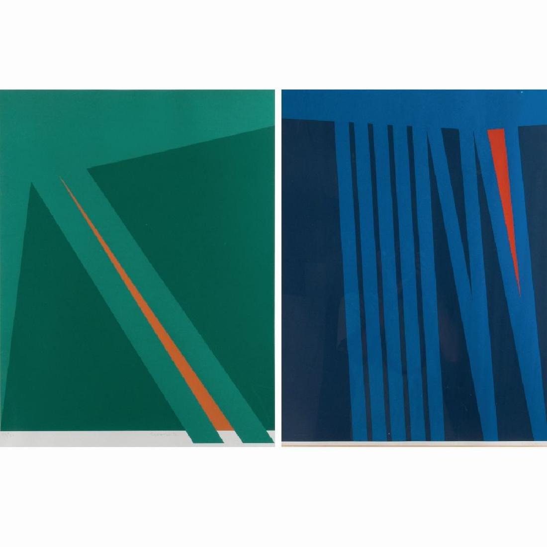 Orlando Condesso (20th Century) 'Green/Orange Slash'