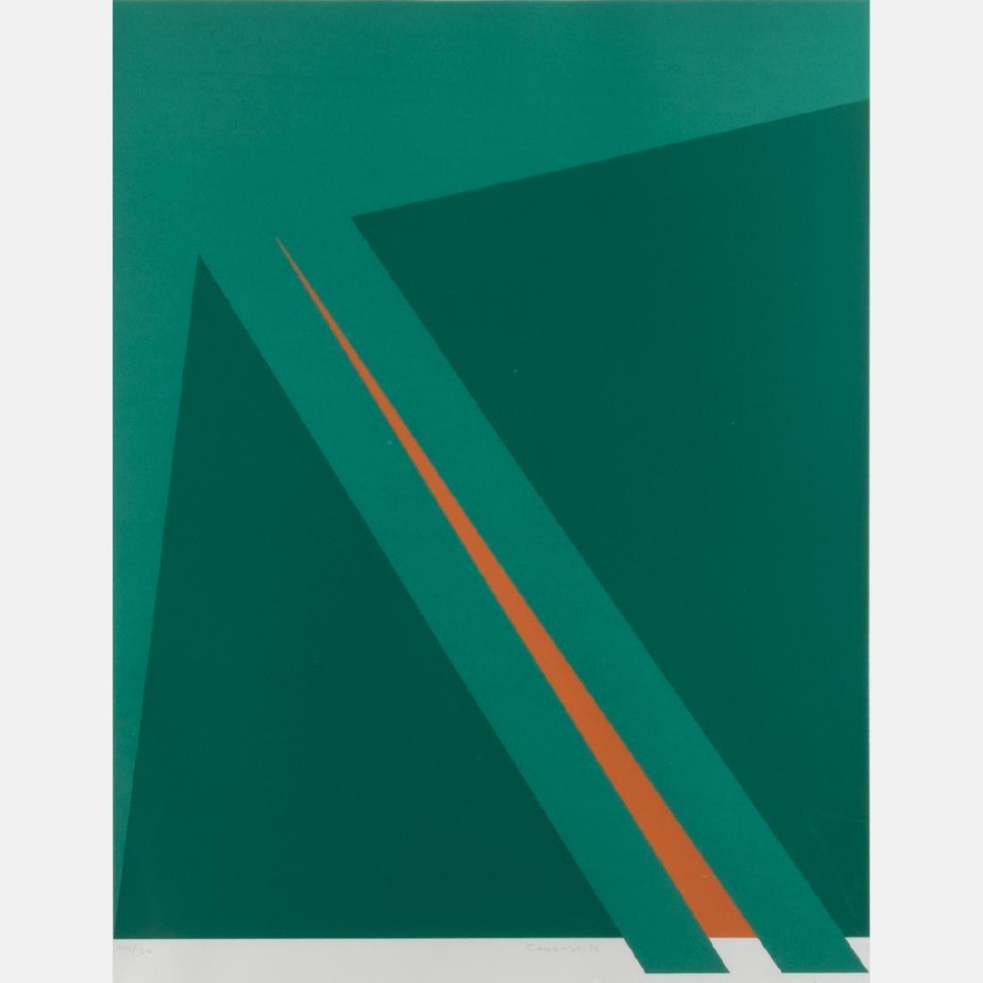 Orlando Condesso (20th Century) 'Green/Orange Slash' - 2