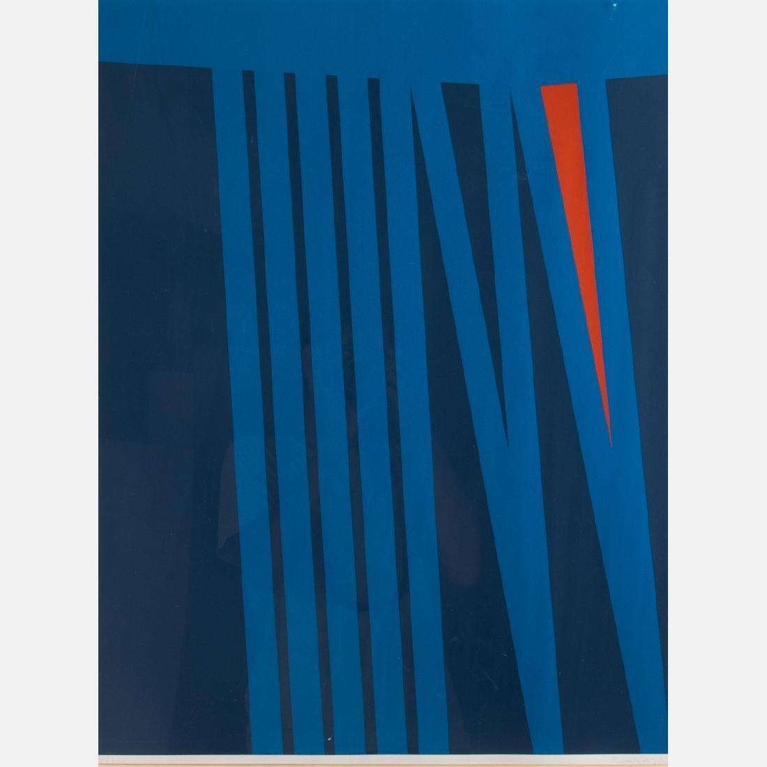 Orlando Condesso (20th Century) 'Green/Orange Slash' - 3