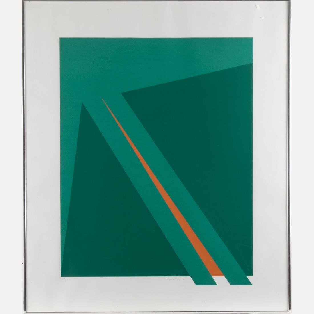 Orlando Condesso (20th Century) 'Green/Orange Slash' - 6