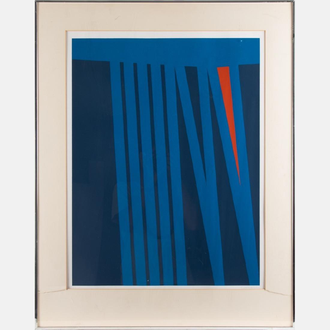 Orlando Condesso (20th Century) 'Green/Orange Slash' - 9