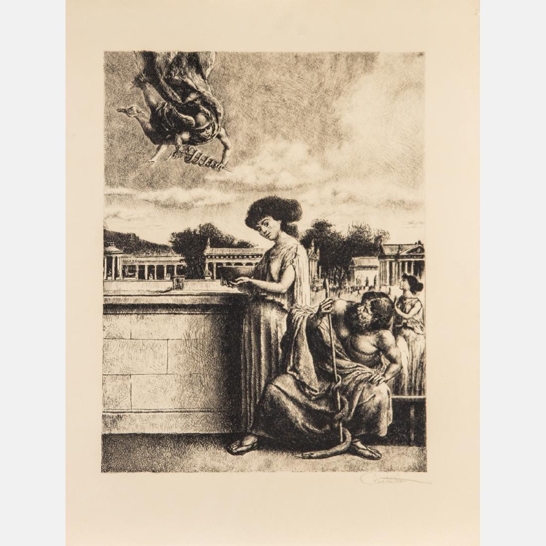 Federico Castellon (1914-1971) Hermes and Panacea,