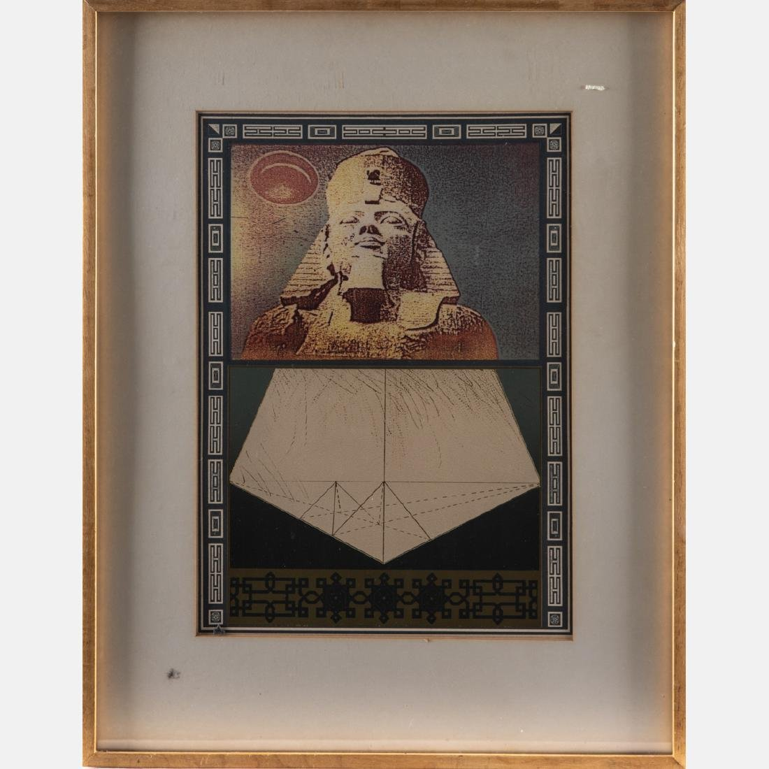 A Group of Four Framed Lithographs and Etchings by - 9
