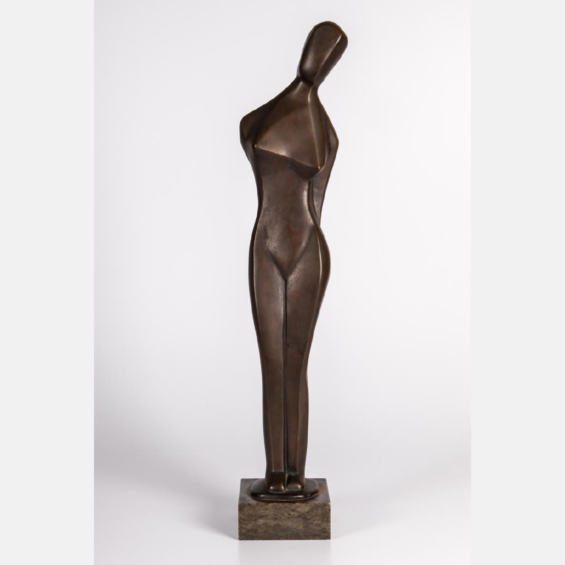 Margarete (Marg) Moll (1884-1977) Standing Female Nude,