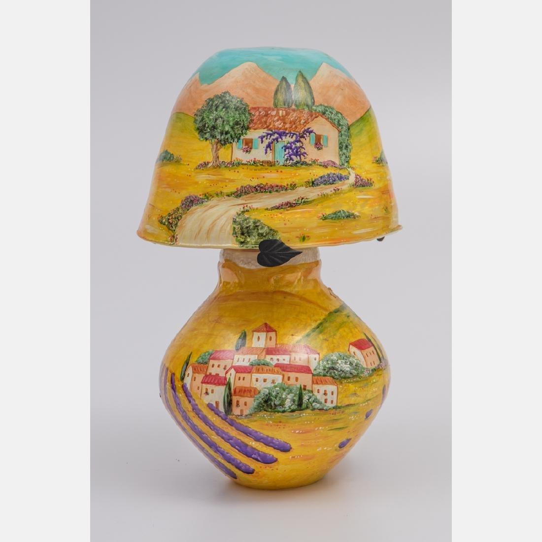 Jean-Claude Novaro (1948-2014) Table Lamp Depicting a