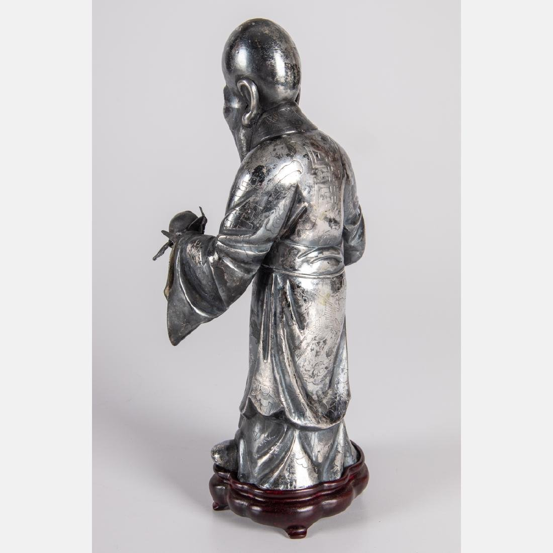 A Chinese Export Silver Figure of Shou Xing, God of - 2