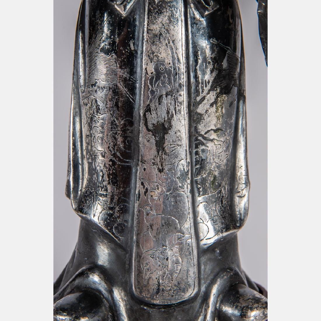A Chinese Export Silver Figure of Shou Xing, God of - 3