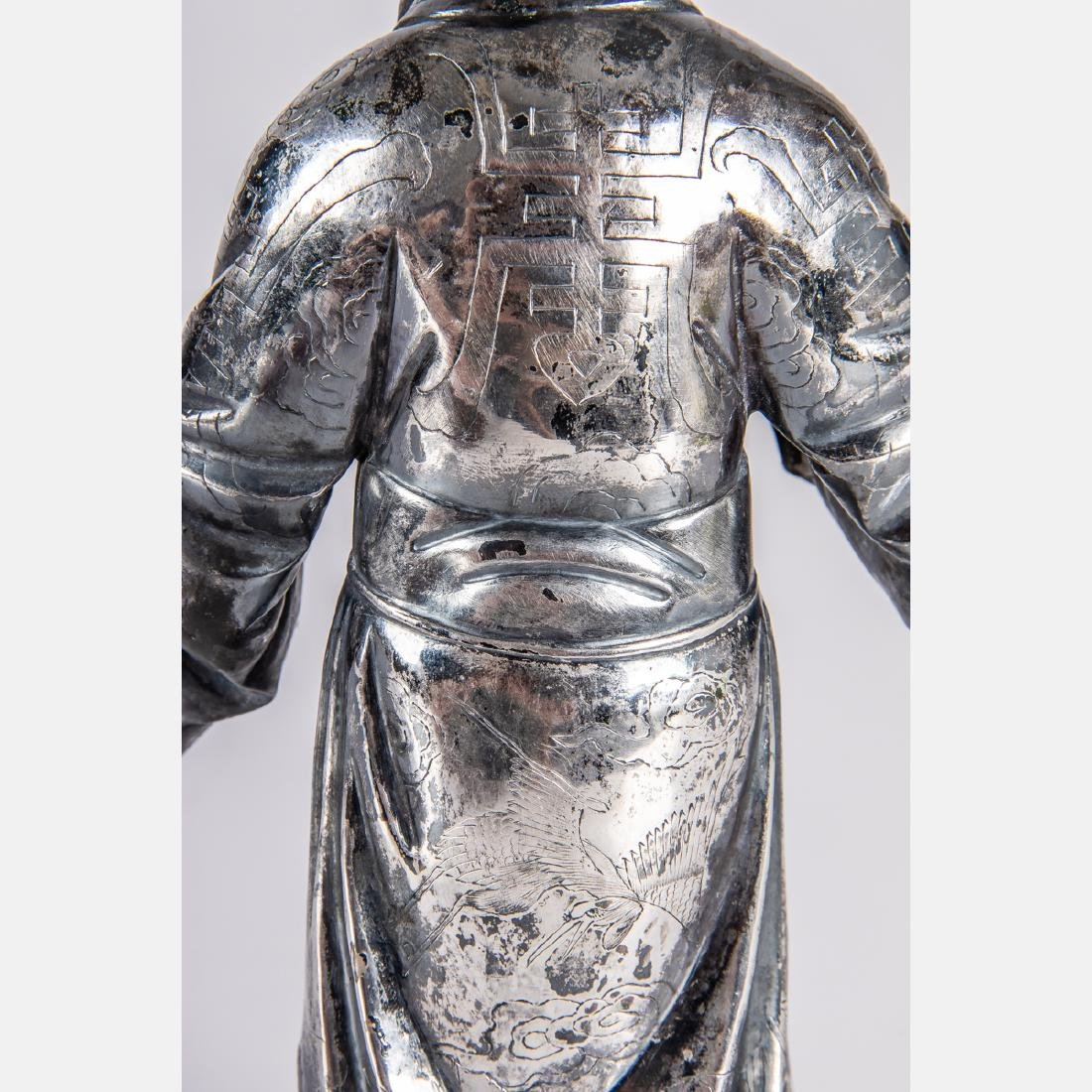 A Chinese Export Silver Figure of Shou Xing, God of - 4