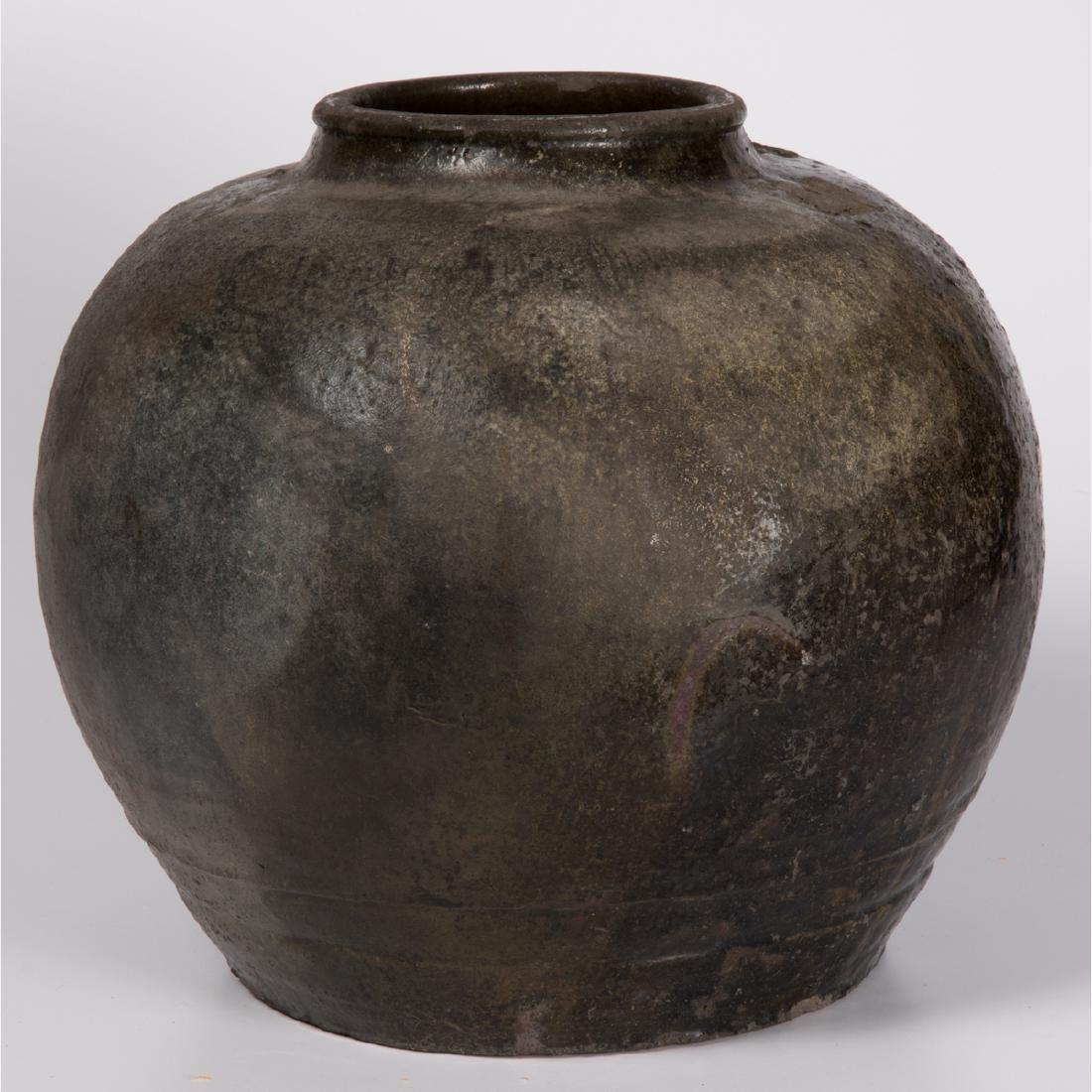 A Chinese Archaic Style Stoneware Storage Vessel.