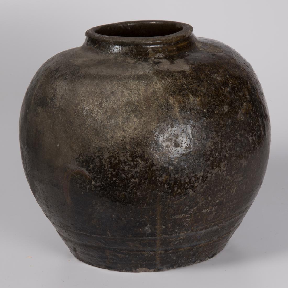 A Chinese Archaic Style Stoneware Storage Vessel. - 2