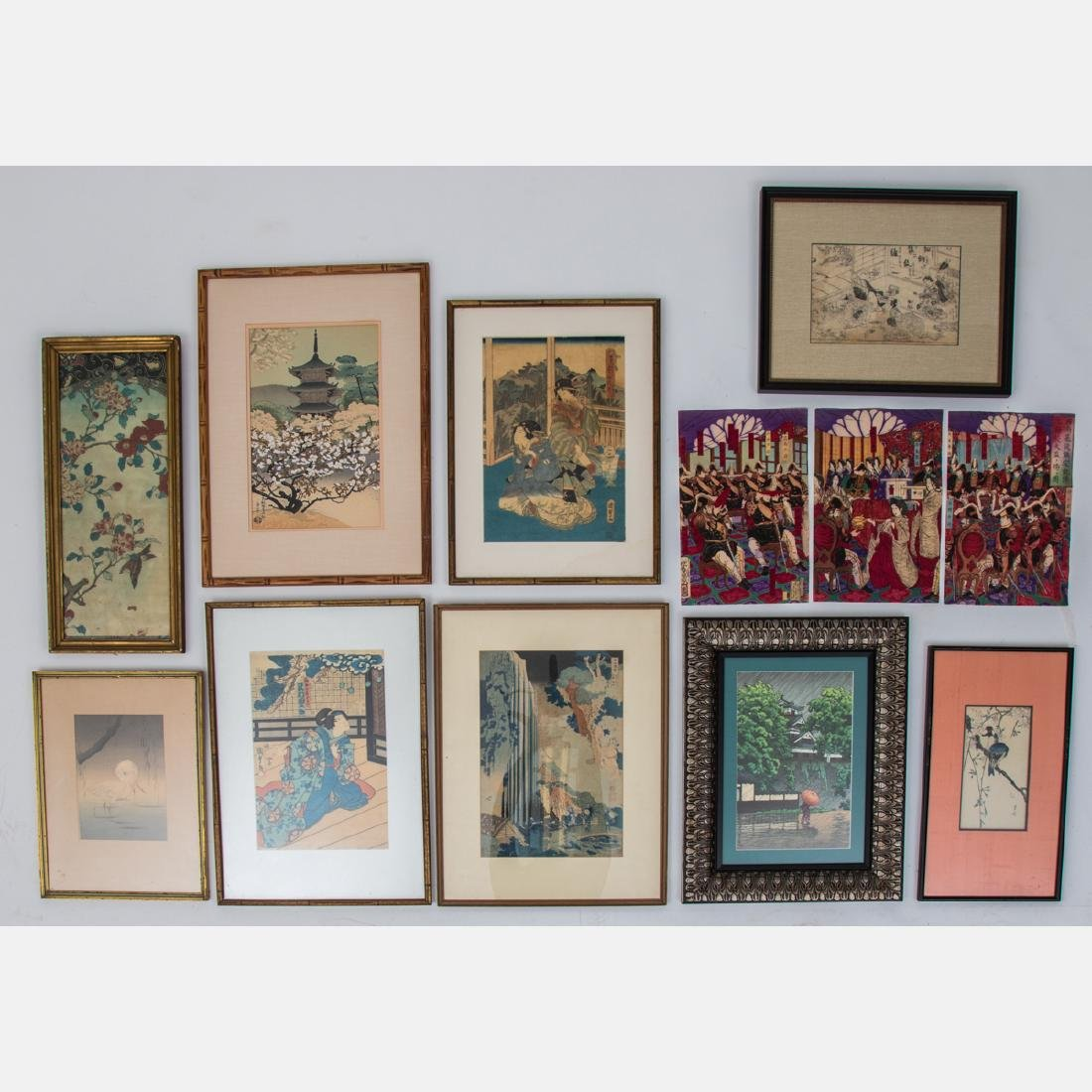 A Collection of Japanese Woodblock Prints by Various