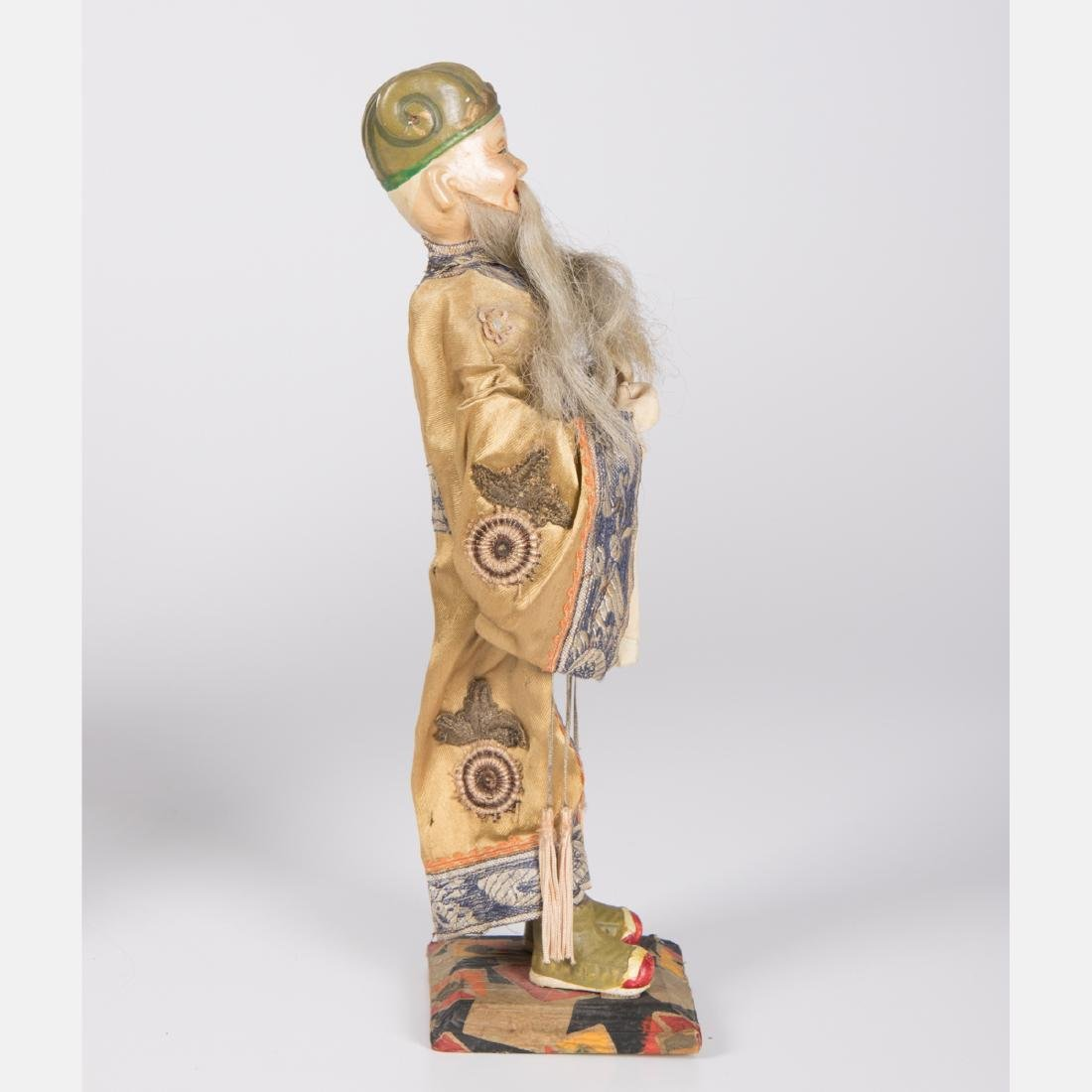 Two Chinese Painted Wood and Plaster Dolls, 20th - 5