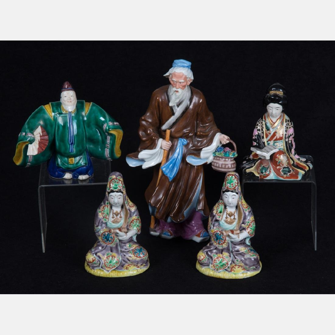 A Group of Five Japanese Porcelain Figurines, 20th