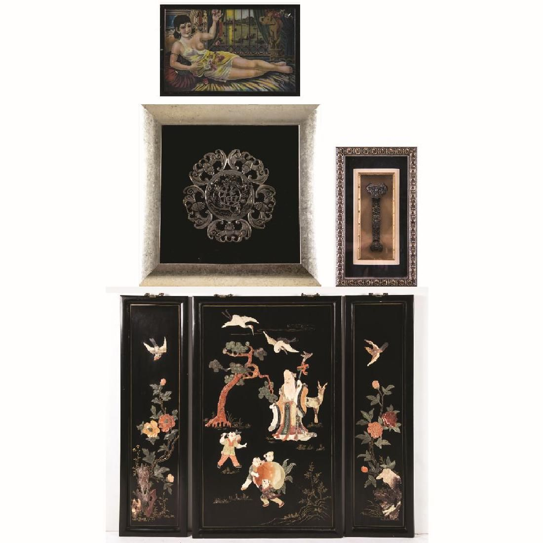 A Group of Chinese Decorative Items, 20th Century,