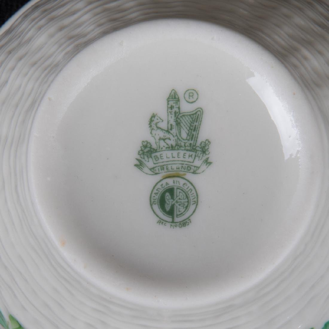 A Collection of Belleek Porcelain Serving and - 2
