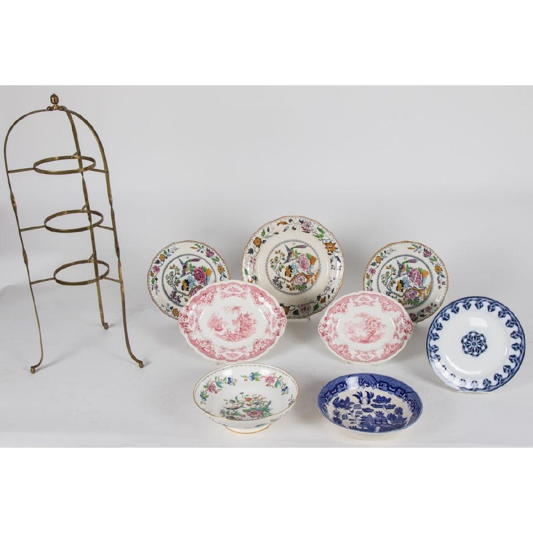 An English Brass Plate Stand, 19th/20th Century,