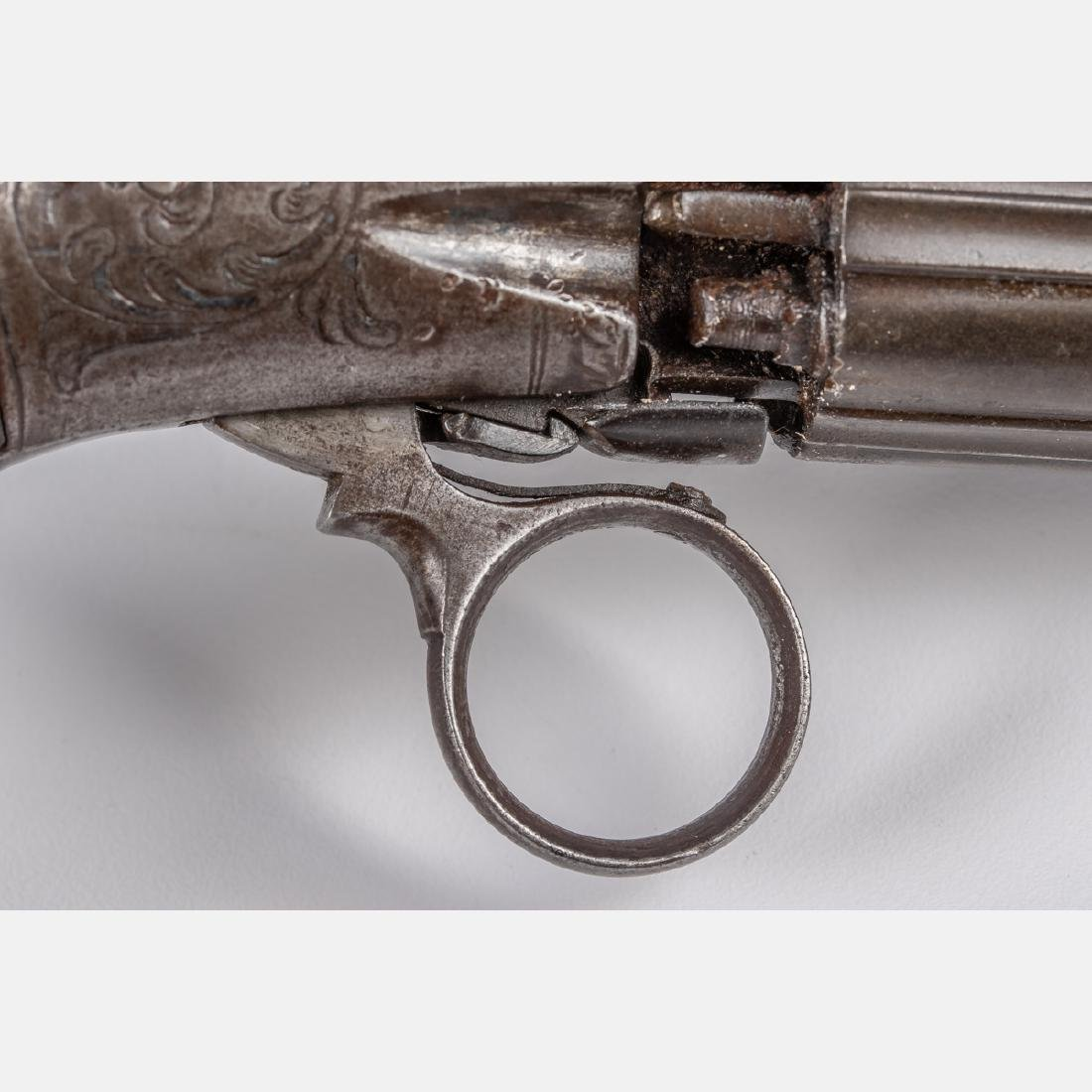 An Antique Six Shot Percussion Pepperbox Revolver, 19th - 3