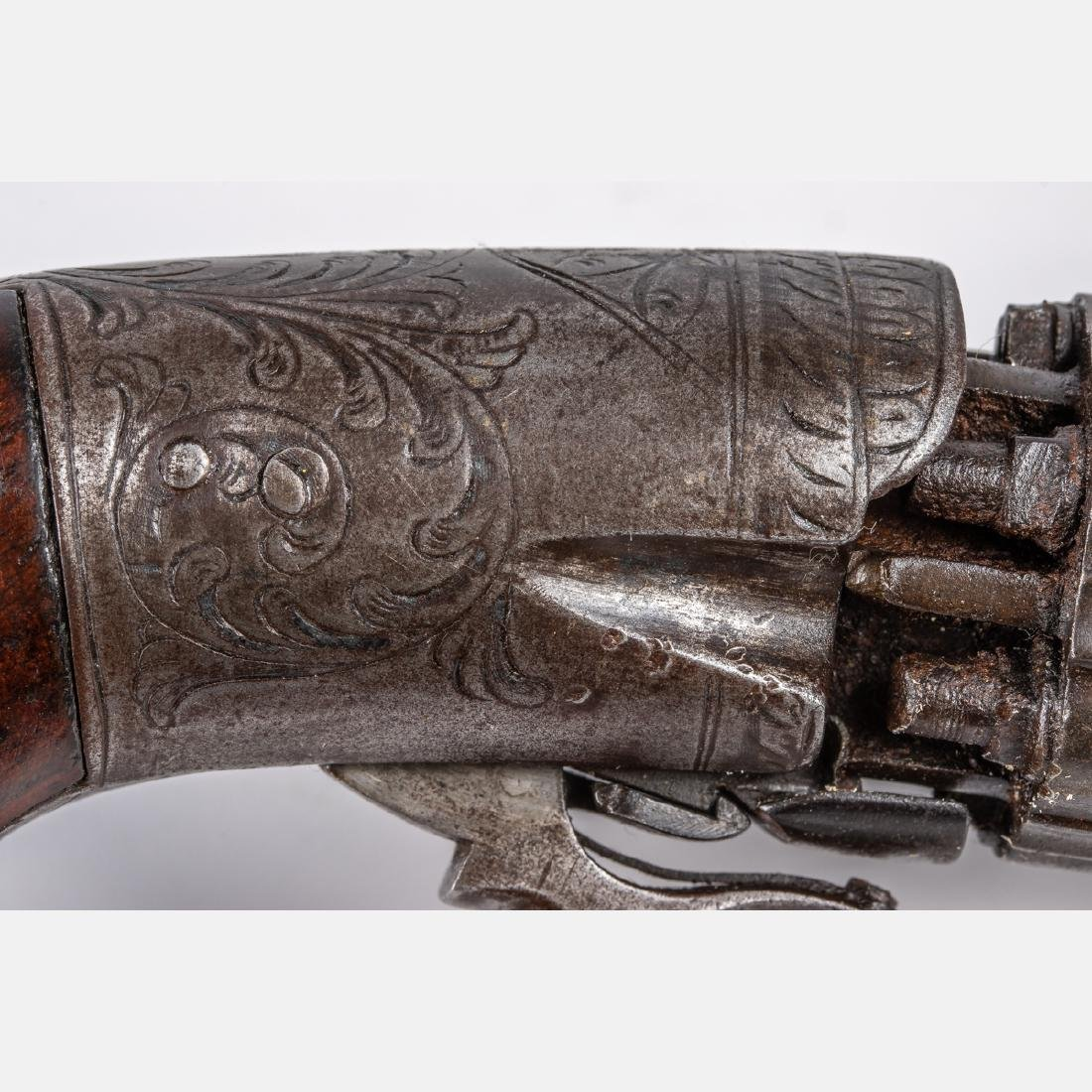 An Antique Six Shot Percussion Pepperbox Revolver, 19th - 4