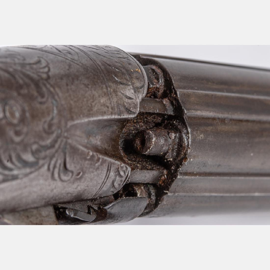 An Antique Six Shot Percussion Pepperbox Revolver, 19th - 7