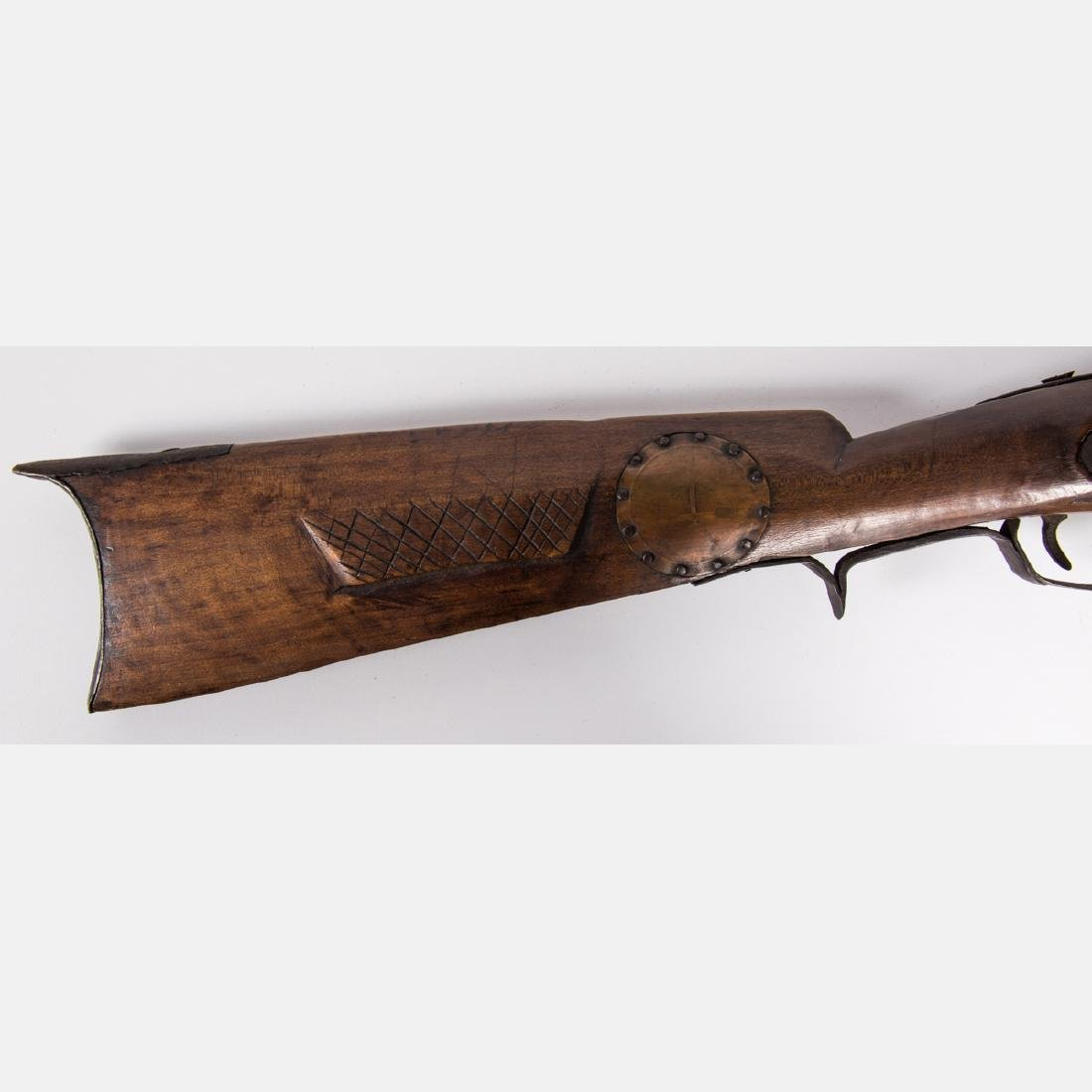 A Brass and Wood Percussion Musket Rifle, 19th Century, - 10
