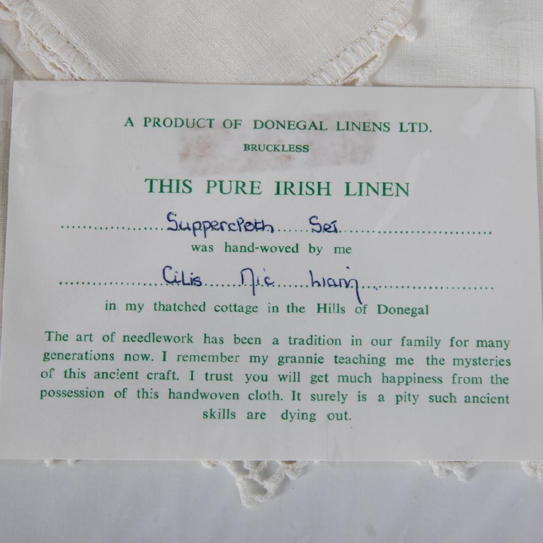 A Set of Irish Hand Woven Donegal Linen Table Cloth and - 3