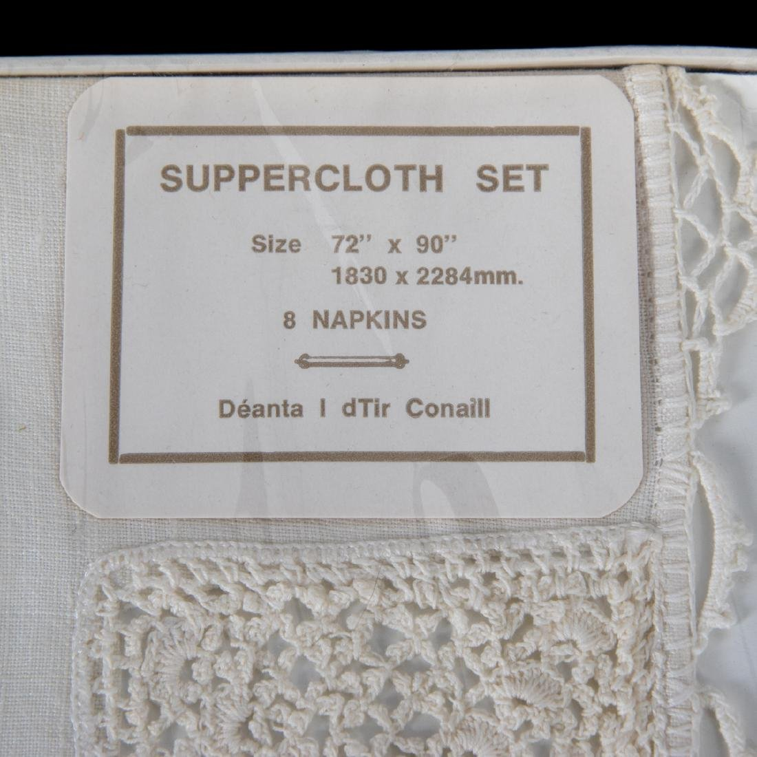 A Set of Irish Hand Woven Donegal Linen Table Cloth and - 4