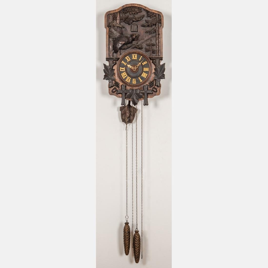 A Black Forest Cuckoo Coo Clock, Early 20th Century,