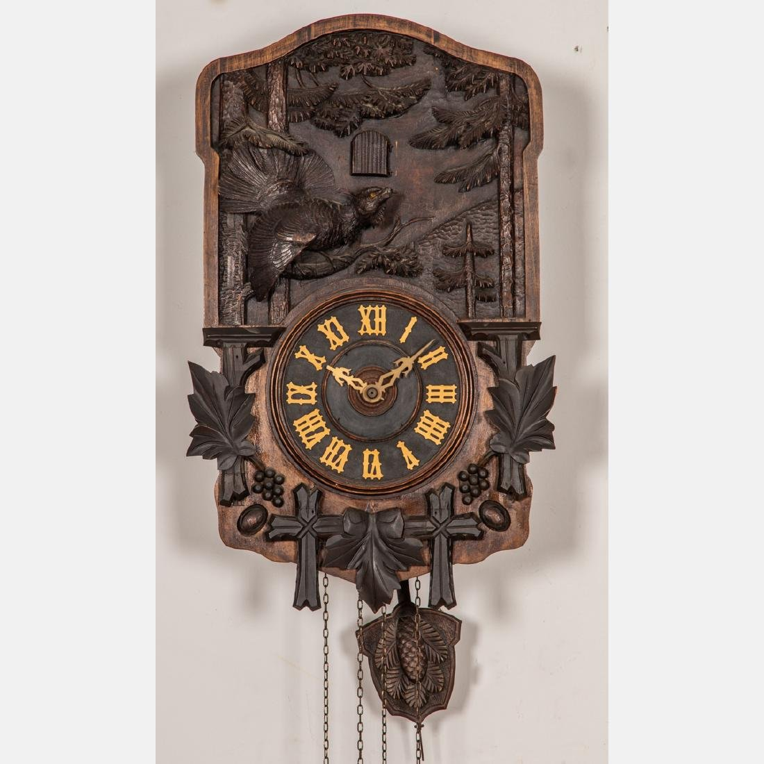 A Black Forest Cuckoo Coo Clock, Early 20th Century, - 2