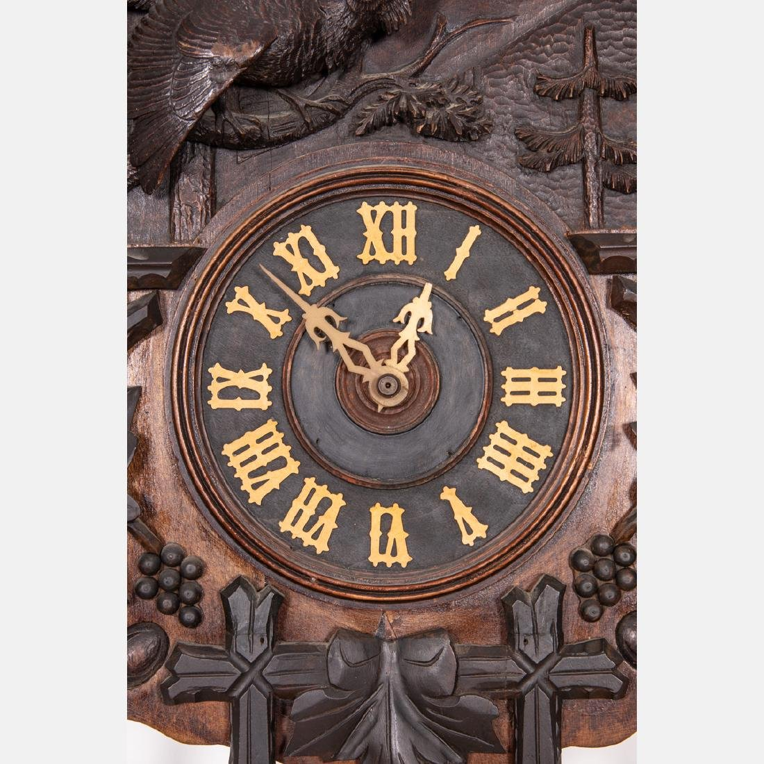 A Black Forest Cuckoo Coo Clock, Early 20th Century, - 9