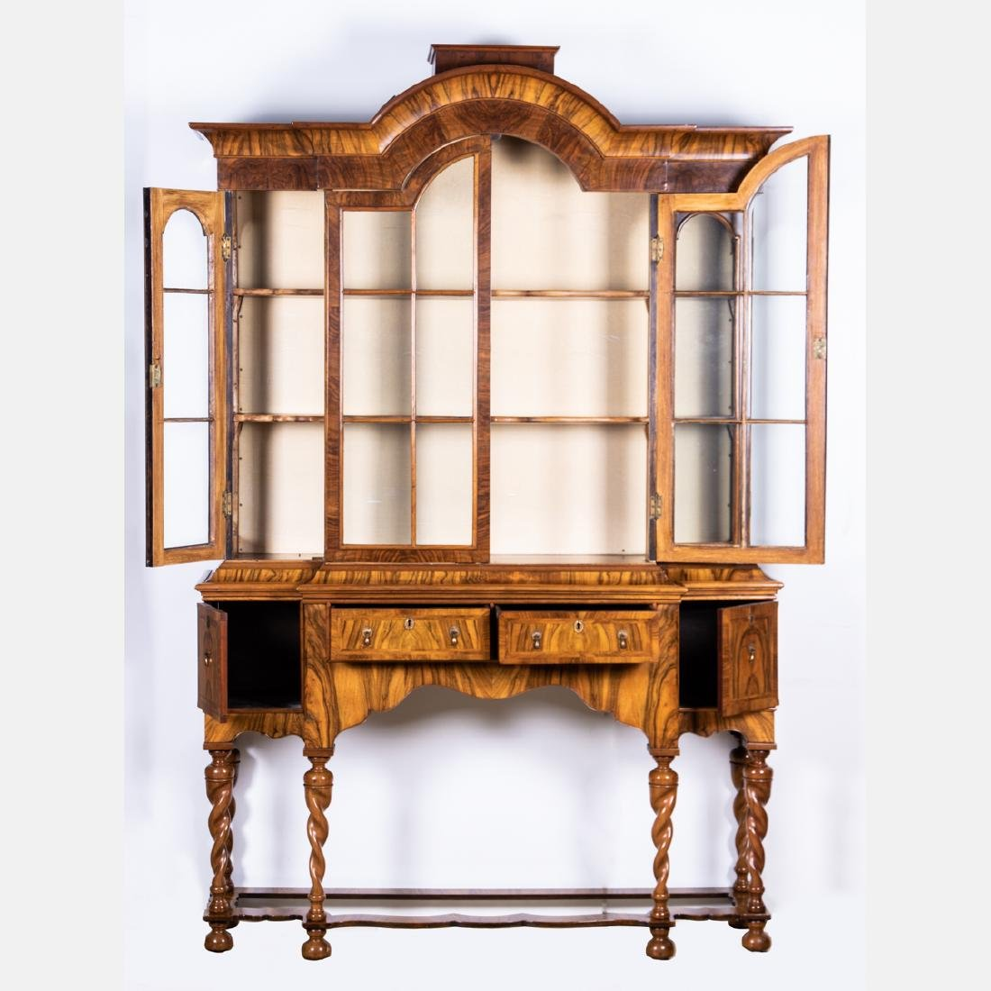 A William and Mary Style Walnut Breakfront, 20th - 2
