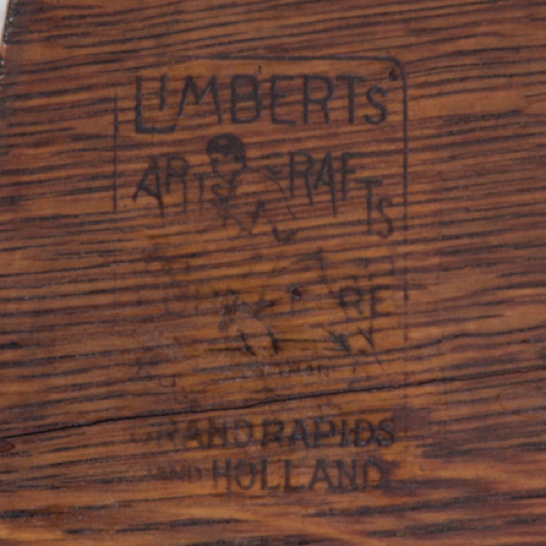 A Limbert Oak Lamp Table, 20th Century, - 3