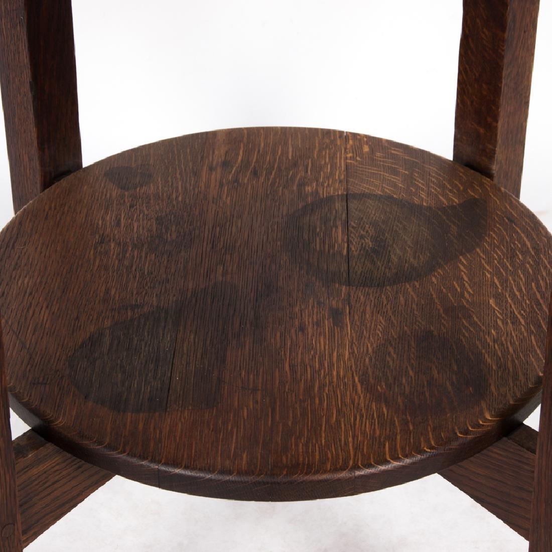 A Limbert Oak Lamp Table, 20th Century, - 4