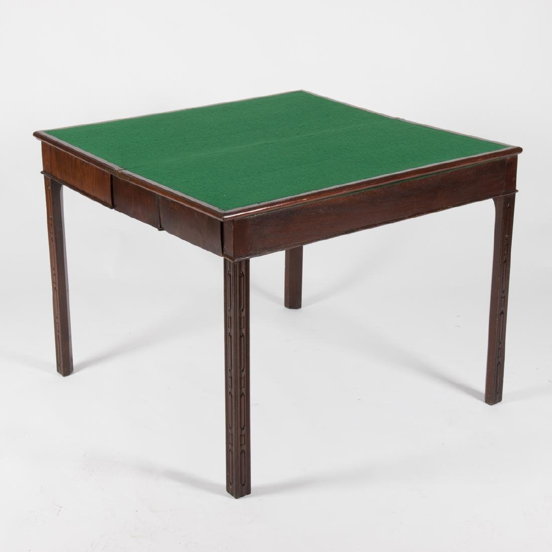 A Georgian Mahogany Games Table, 19th Century. - 2