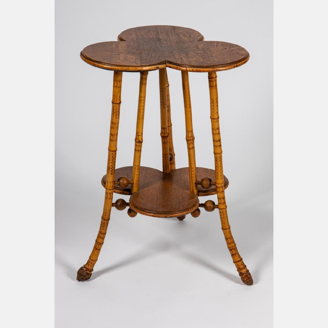 A Victorian Bamboo Two Tiered Stand, 19th Century.