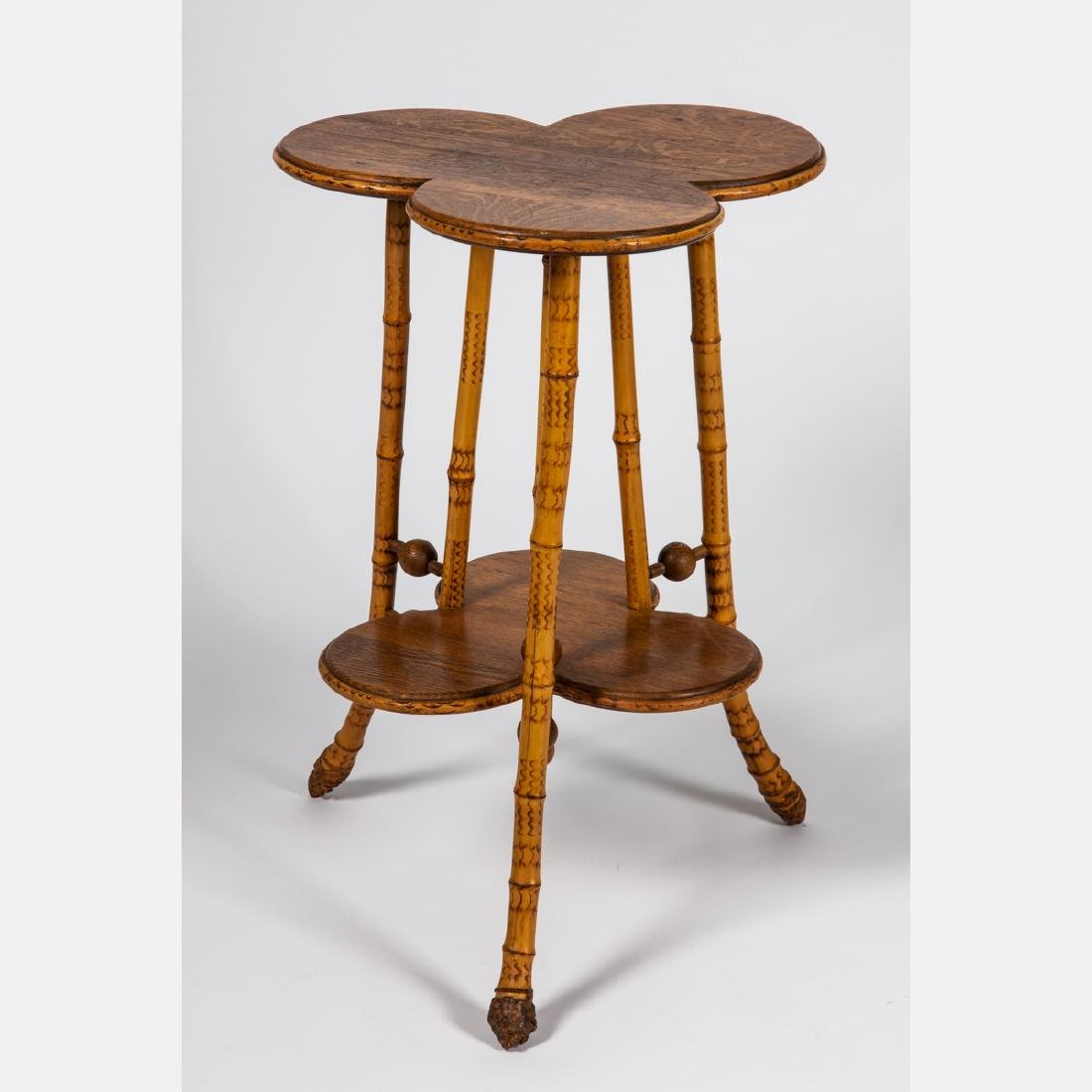 A Victorian Bamboo Two Tiered Stand, 19th Century. - 2