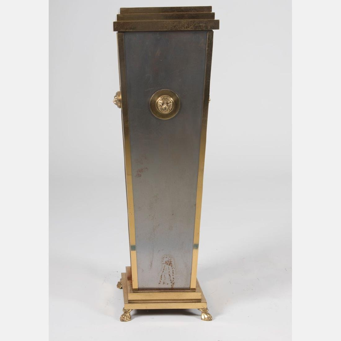 A Regency Style Brass and Steel Plated Pedestal, 20th - 2