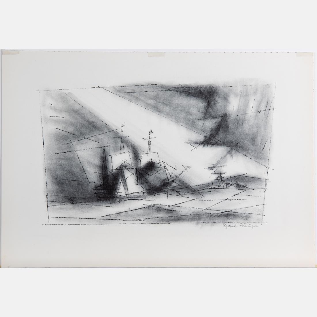 Lyonel Feininger (1871-1956) Off the Coast, 1951,