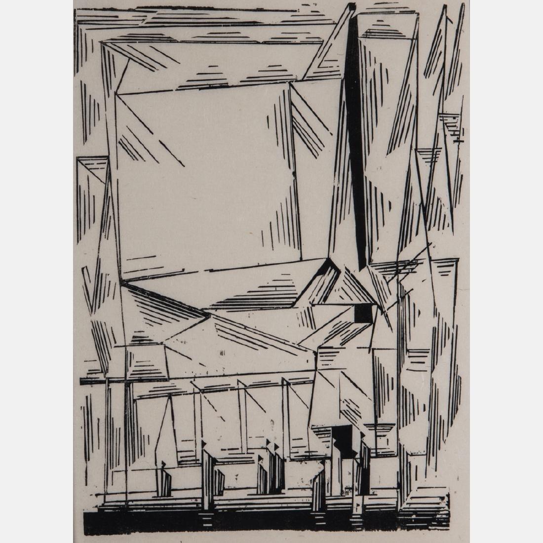 Lyonel Feininger (1871-1956) Gelmeroda, 1920, Woocut,
