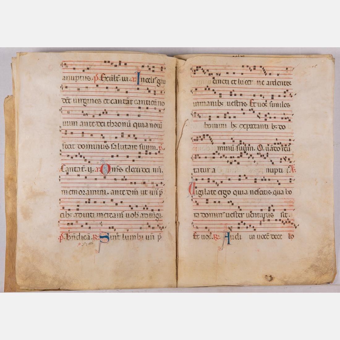 An Italian Fifteen Page Illuminated Musical Choir Book - 2