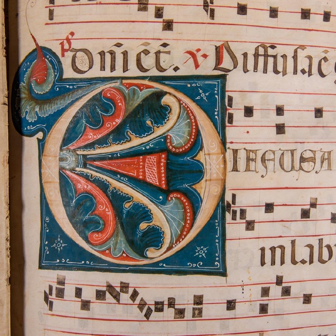 An Italian Fifteen Page Illuminated Musical Choir Book - 6