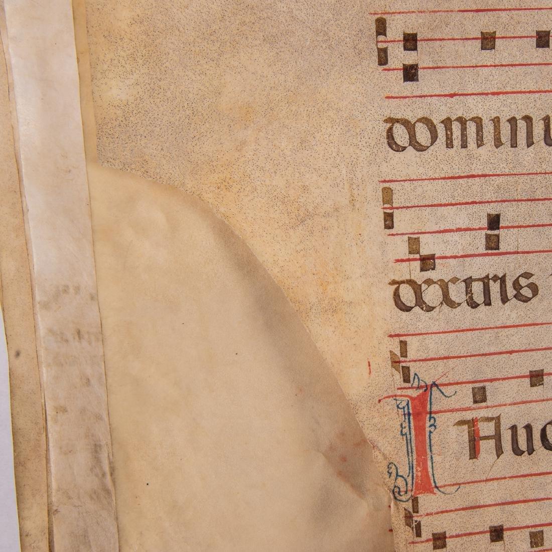 An Italian Fifteen Page Illuminated Musical Choir Book - 7